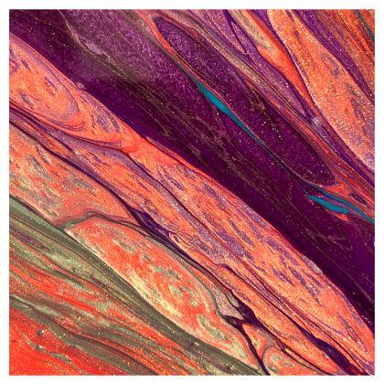 Edge of the volcano abstract handbag