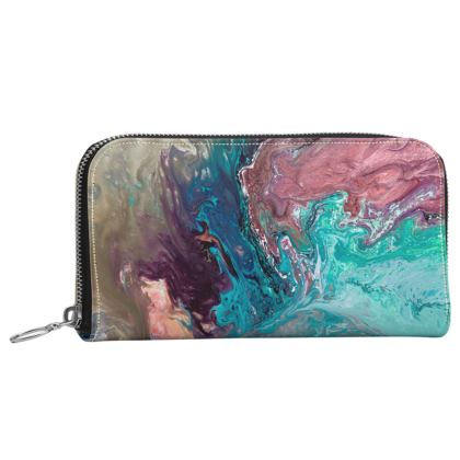 If Dancers Feet Could Paint Leather Zip Purse
