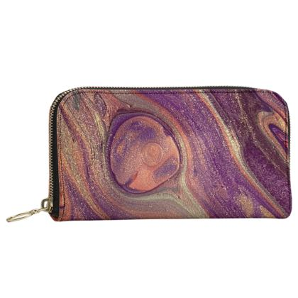 Feather Light Leather Zip Purse