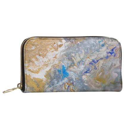 Stars in the Sky Leather Zip Purse