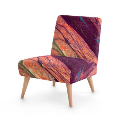 Abstract colourful focal point chair
