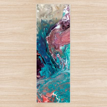 If Dancers Feet Could Paint Abstract Fitness Mat