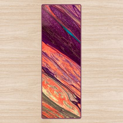 On the edge of the Volcano Abstract Fitness Mat