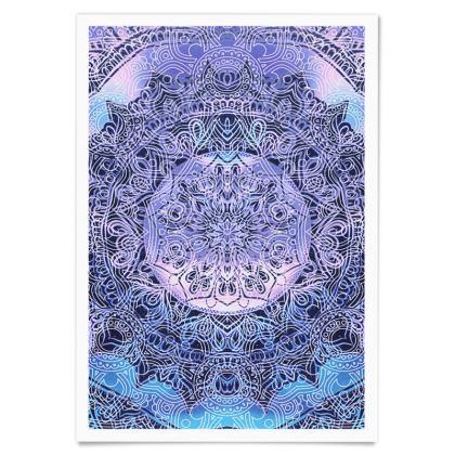 Purple gradient mandala Paper Posters