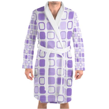 Retro Art Design Purple Dressing Gown