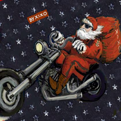 Santa Claus and elves - coasters