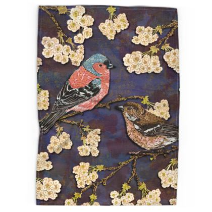 Chaffinches Tea Towel