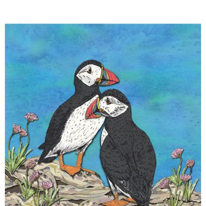Puffins Shell Coin Purse