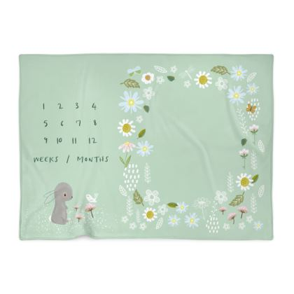 Baby Milestone Blanket - Poppy