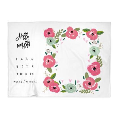 Baby Milestone Blanket - Rosy