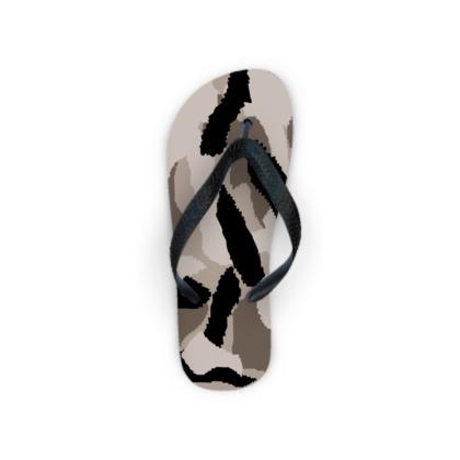 Camouflage Design Flip Flops