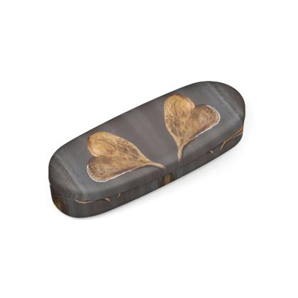 Hard Glasses Case Falling Leaves Design