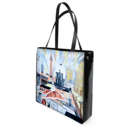 Newcastle Toon Shopper/Beach Bag  by Alison Gargett - Design One Side
