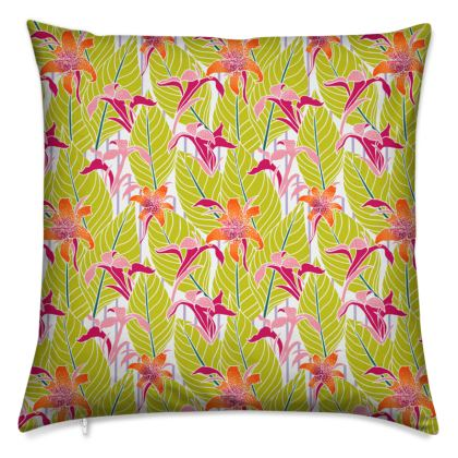 Lily Leaves Cushion