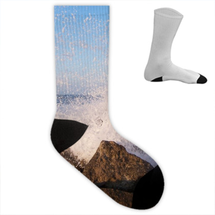 Ocean Photography Socks