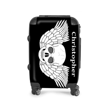 Skull With Wings Fantasy Art Design Personalised Suitcase