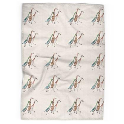 Linen & Cotton Tea Towel Indecisve Indian Runner Ducks