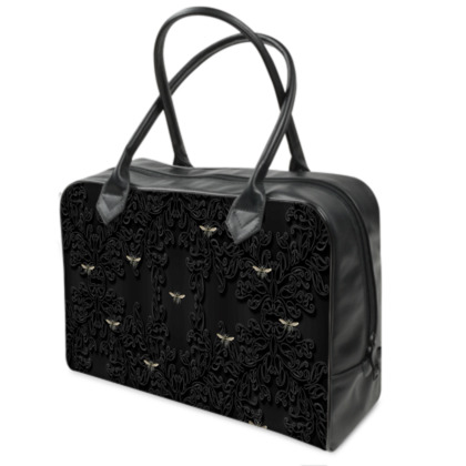 Vintage Bee and Black Lace Weekender Bag