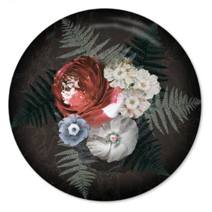 Flowers Collection - Round Coaster Trays