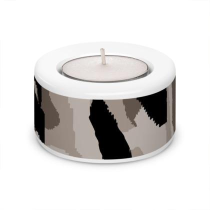 Camouflage Design Tea Light Holder (x2)
