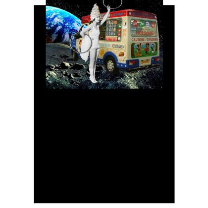 Miss Whippy Hooping in Space Postcards