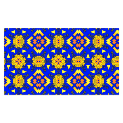 "Yellow, Blue and Orange Sarong Plus Long - 76""x44"" (193cmx110cm)"