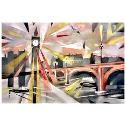 Westminster Clutch Bag with Faux Leather Option