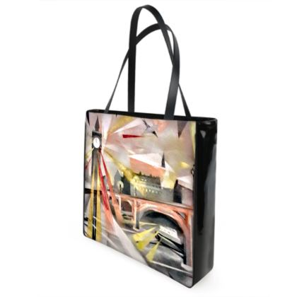 Westminster Five Before Midnight designer Shopper /Beach Bag - Design One Side