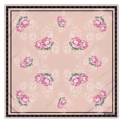Elysian Bloom Silk Scarf