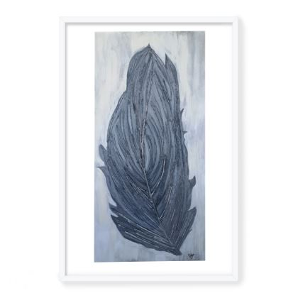 Framed Art Prints Feather