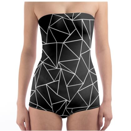 Strapless Swimsuit - Ab Outline