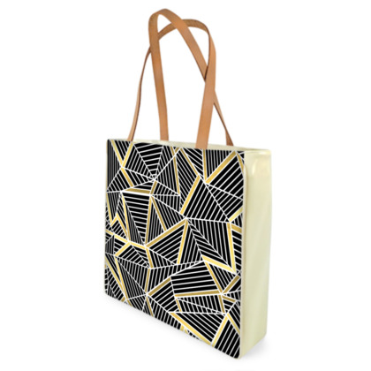 Beach Bag - Ab Lines Gold