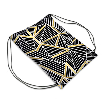 Swim Bag - Ab Lines Gold