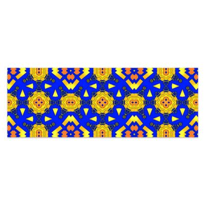 "Yellow, Blue and Orange Sarong Classic Half - 66""x24"" (167cmx60cm)"