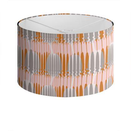 Teasel Stripe Drum Lamp Shade Rose/Rust