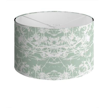 Star Vine Mint Drum Lamp Shade