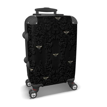 Vintage Bees and Black Lace Suitcase