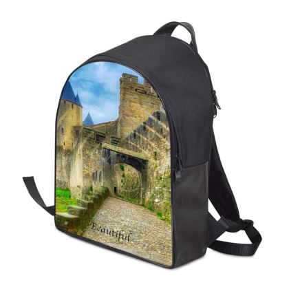 Original Leather and Canvas Backpack - Carcassonne