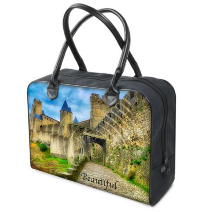 Original Leather and Canvas Holdall - Carcassonne