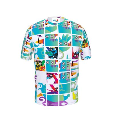 SQUARES Cut and Sew T Shirt