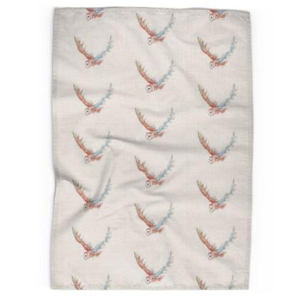 Linen & Cotton Tea towel Barn Owl Beauty