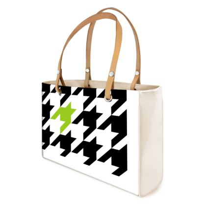 over sized Houndstooth Tote bag