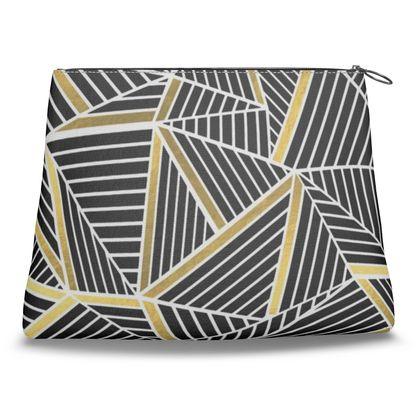 Clutch Bag - Ab Lines Gold