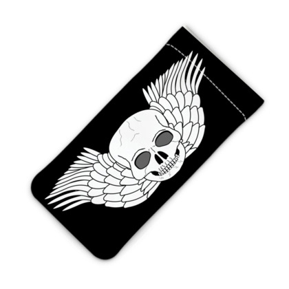 Skull With Wings Fantasy Art Design iPod Slip Case