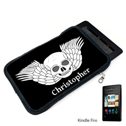 Skull With Wings Fantasy Art Design Kindle Case