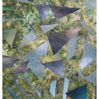 Mens Fragmentation Wash Bag is by Alison Gargett Artist and Designer