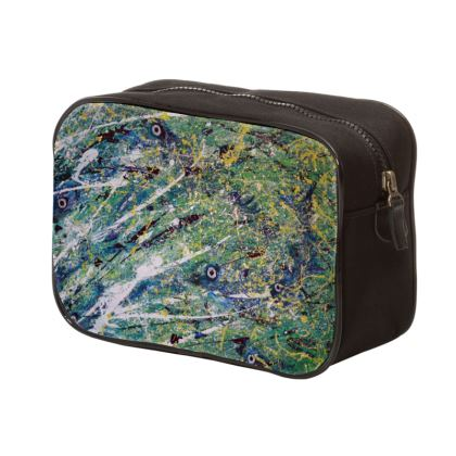 Mens The Salmon Run Wash Bag is by Alison Gargett Artist and Designer