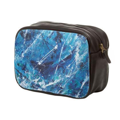 Mens Cruel Sea Designer Wash Bag by Alison Gargett Artist and Designer