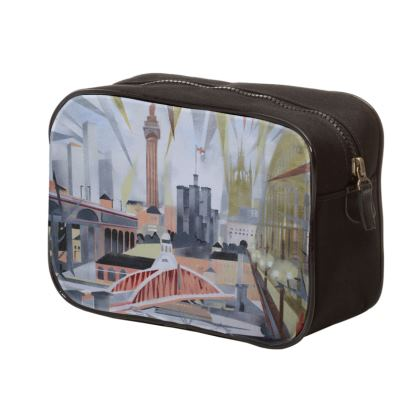 Mens unique Newcastle Toon Range Wash Bag by Alison Gargett Artist and Designer