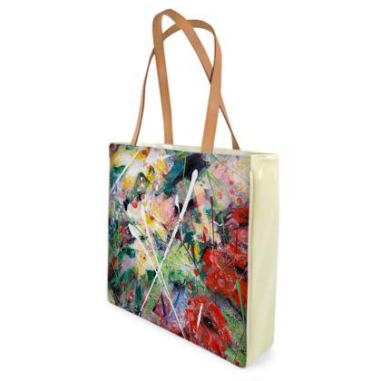 Poppies Shopper/Beach  Bag by Alison Gargett - Design One Side